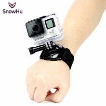 SnowHu pour Gopro accessoires 360 degrés Rotation main bracelet pour Go pro Hero 9 8 7 6 5 pour Xiaomi Yi 4k pour sjcam LD09