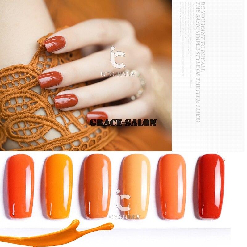 Pumpkin Orange Nail Art Soak Off Polish UV LED Lamp DIY
