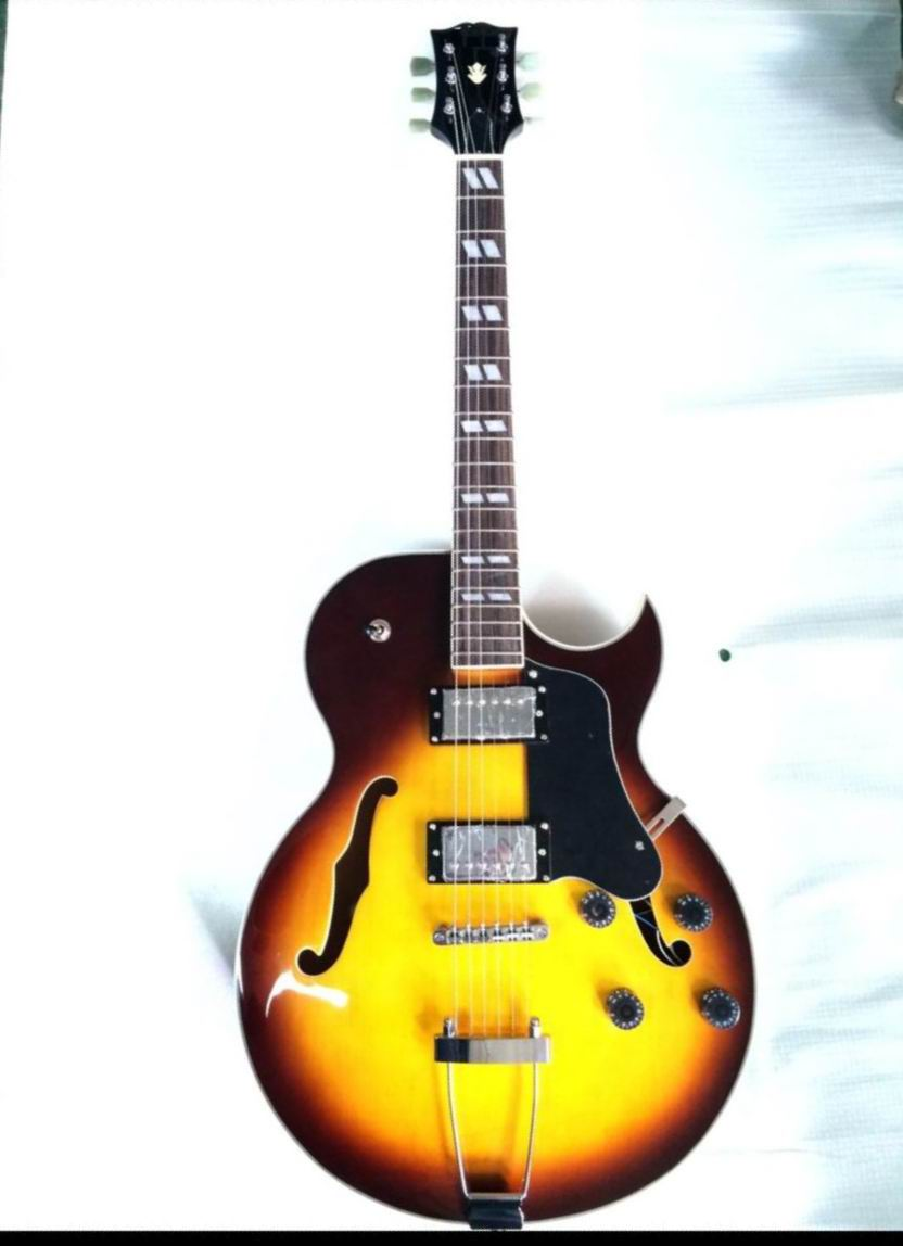 Free Shipping Cnbald ES-175 Jazz Electric guitar L-5 ES175 semi hollow in sunset 140610-0801 shemelis tesfa the practice