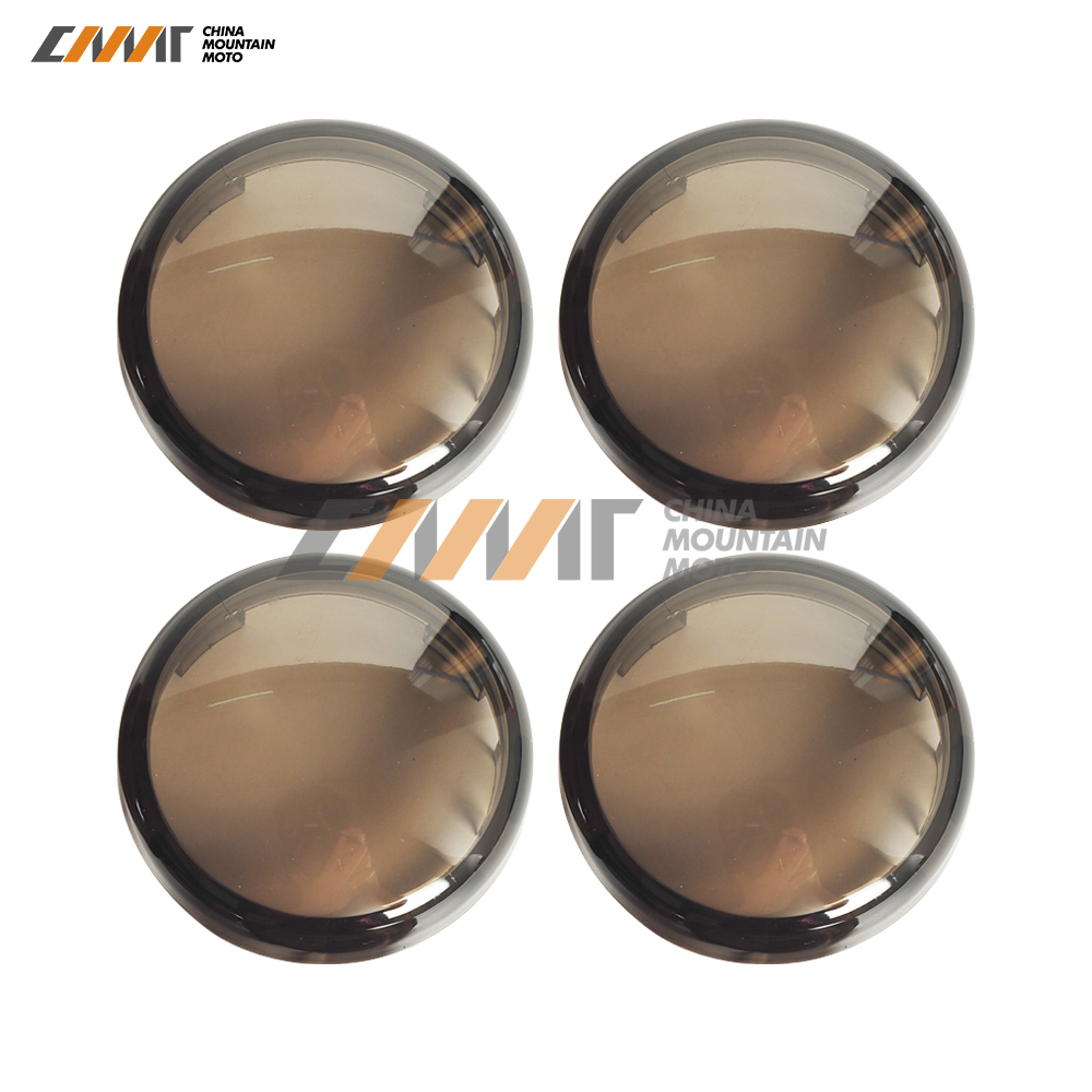 cheapest 4X smoke motorcycle Signal Lens and Bulb Kit case for Harley Sportster XL883 XL1200 X48 72 Dyna V-Rod VRod Night Rod Muscle