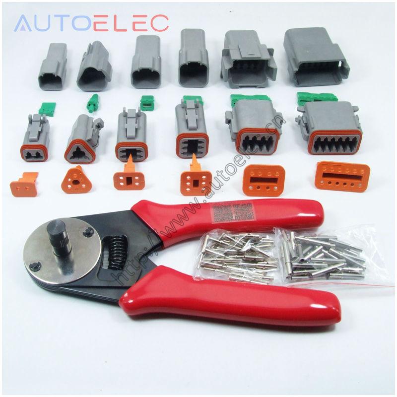 1 sets 6 models Deutsch DT06 DT04 2 3 4 6 8 12Pin waterproof electrical solid