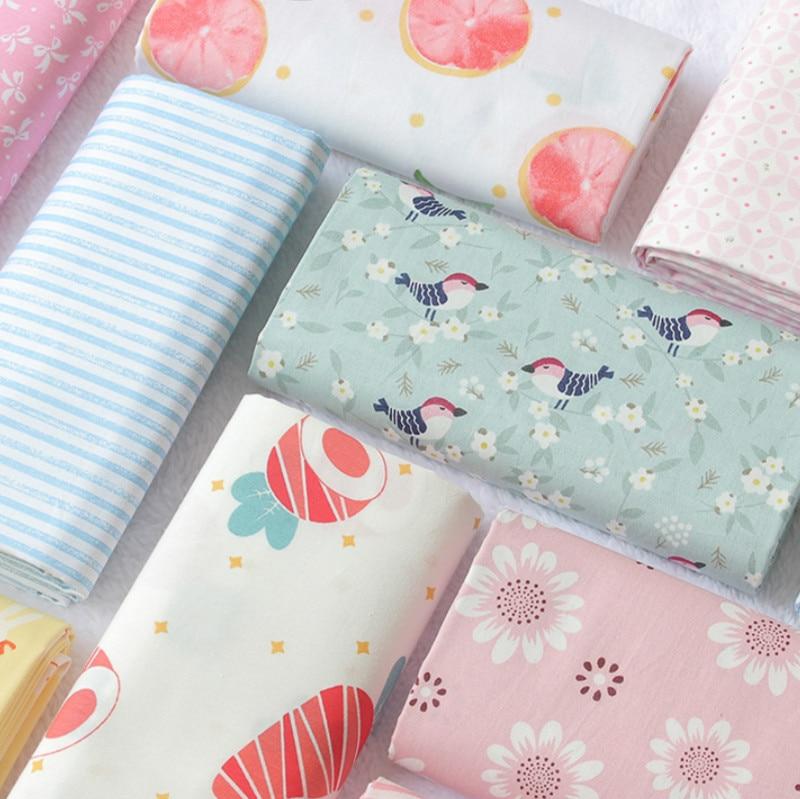 Хлопчатобумажная саржевая ткань для простыней напечатанная 100% хлопковая ткань для Лоскутная Ткань DIY шитье квилтинг жир четверти материал