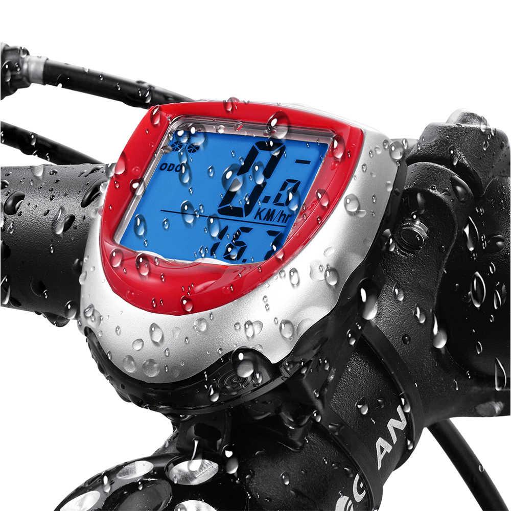 Inteligente led backlight Computador de bicicleta Velocímetro para bicicleta de estrada velocimetro power medidor de velocidade Inglês Computador de bicicleta À Prova D' Água