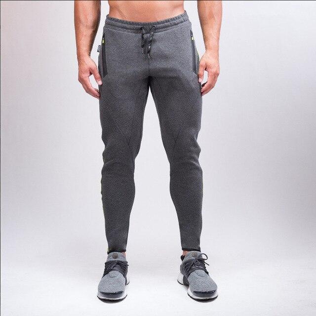 Популярные в 2017 высокое качество фитнес бодибилдинг фитнес брюки брюки мужчины спортивные штаны брюки для autumnPopular в 2