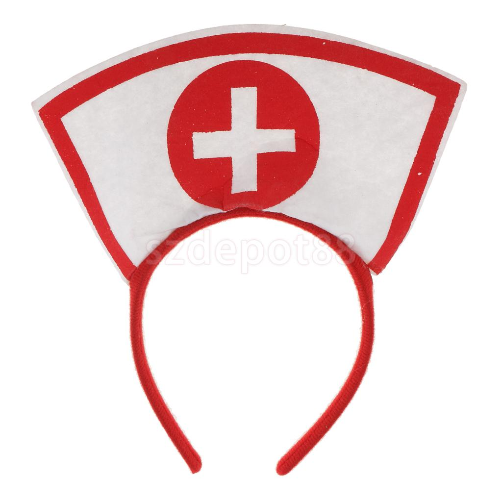 Nurse Doctor Headband Girls Woman Hairband Fancy Dress Costume Hen Night Party Cosplay Props Accessories