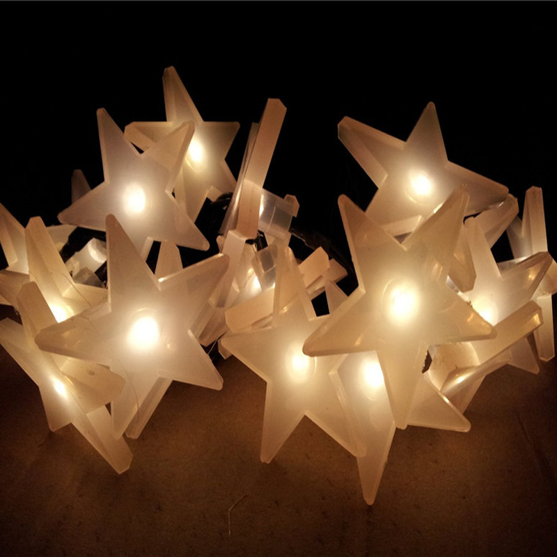 Outdoor Solar Panel Light 6m 30 Led String Lights Cream White Star Ed Decoration Lamp In From Lighting On Aliexpress
