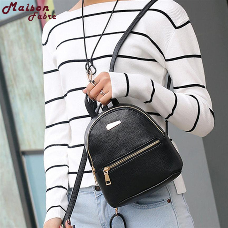 New small backpack female 1PC Women Leather Backpack School Rucksack College Shoulder Satchel Travel Bag school bags backpacks