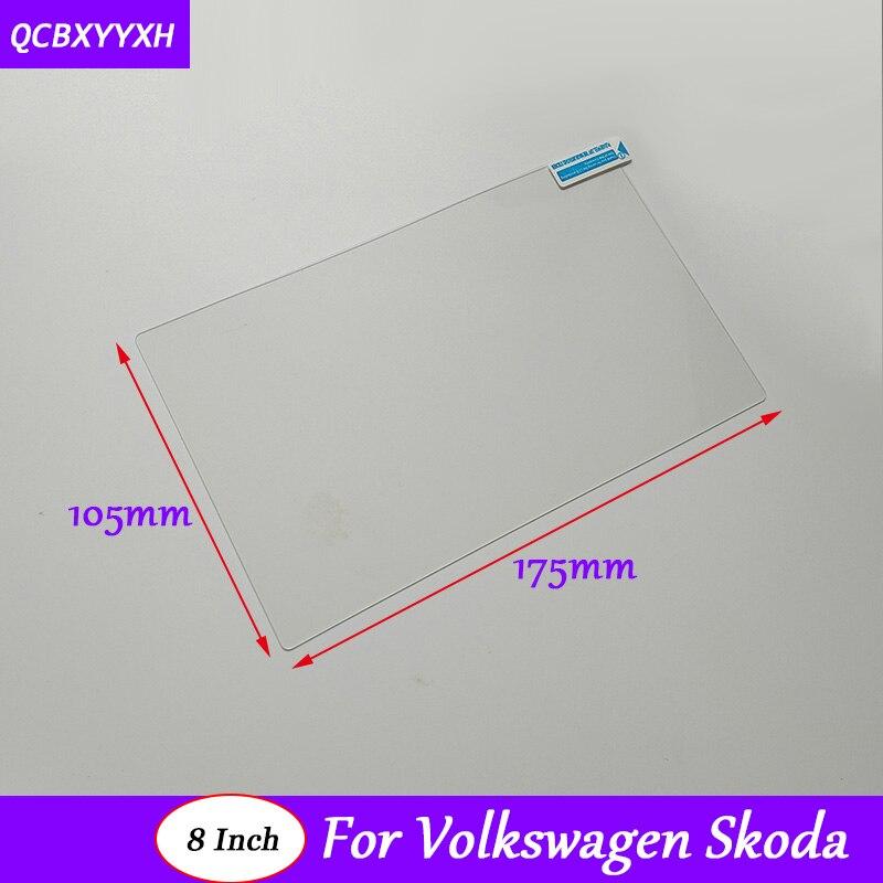 Car Styling GPS Navigation Screen Glass Protective Film For VW Golf Polo Tiguan Touran Touareg CC Jetta Skoda Superb Octavia