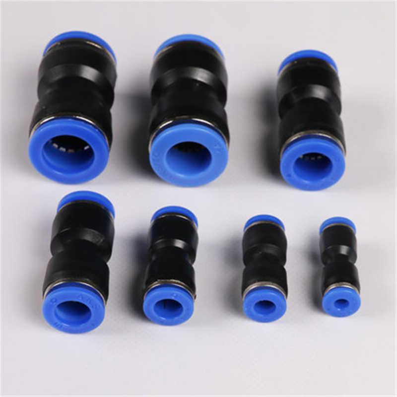 PU pnömatik itme uydurma düz boru birliği tüp OD 4/6/8/10/12 /14/16mm hava uydurma pnömatik hızlı bağlantı parçaları