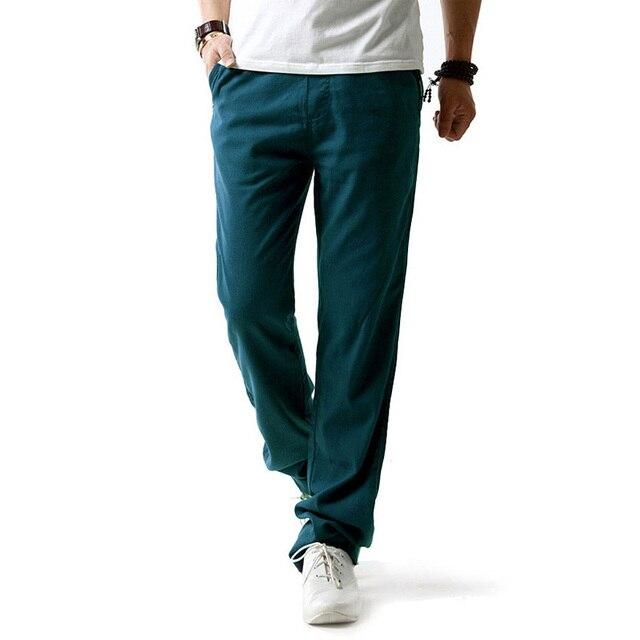 5XL Anti-Microbial Healthy Linen Pants Men  3