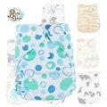 Comercio al por mayor 2016 Nueva Reutilizable 10 Unids/bolsa Merries Bebé Pañal de Tela Inserta Liners Nappy Fralda Asistente Bebé Pañales Lavables Pantalones