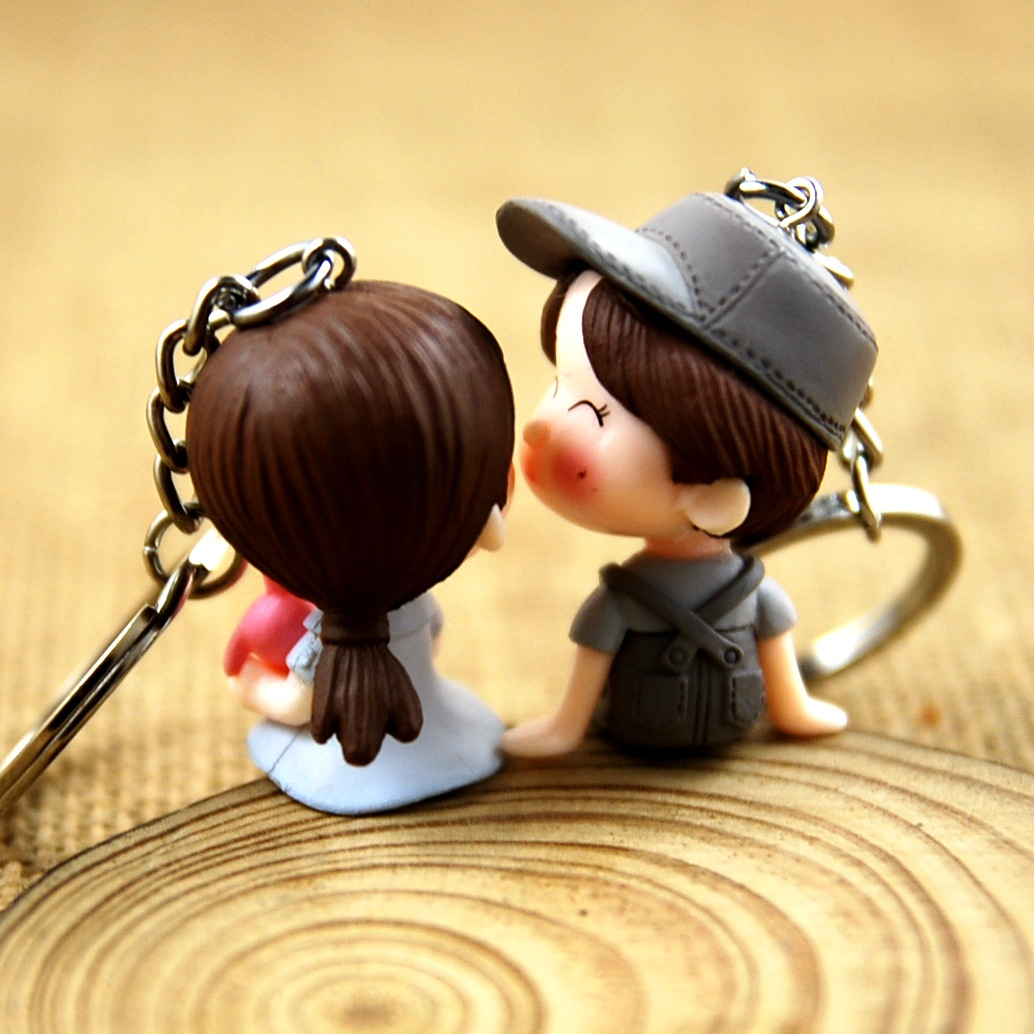 Hot Women Creative Cute Doll Bag Pendant Keychains Bag Charm Accessories New Men Best Charm Couple Gift Jewelry K2115
