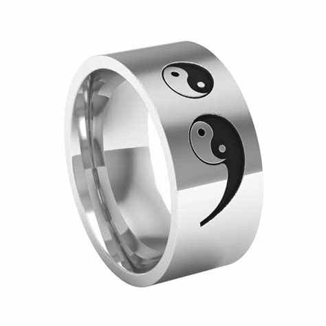 2018 Trendy Tai Chi Semicolon Ring Unisex Stainless Steel Semicolon Jewelry Prevent Suicide Awareness  Dropship Accepted YP3922