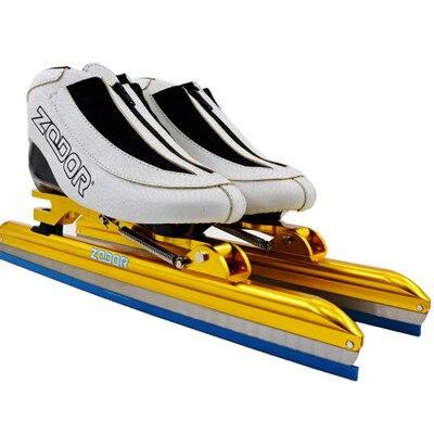 2018 ZODOR Профессиональный вывихе каблук хвост с прикрепляемыми роликами печатная плата 6 слоев углеродного волокна Встроенный Скорость ледовые лезвие 430 мм Ножи 62 64 - 4