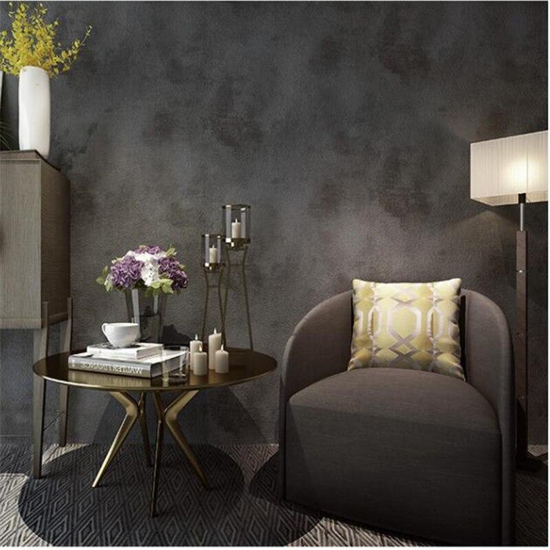 Wohnzimmer Restaurant, beibehang papel de parede retro plain grau weiß zement hintergrund, Design ideen