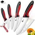 Cuchillo de cerámica de cuchillos de cocina 3 4 5 6 pulgadas con pelador Chef de cocina vegetal de la fruta de la utilidad cortador cuchillo blanco hoja juego de cocina