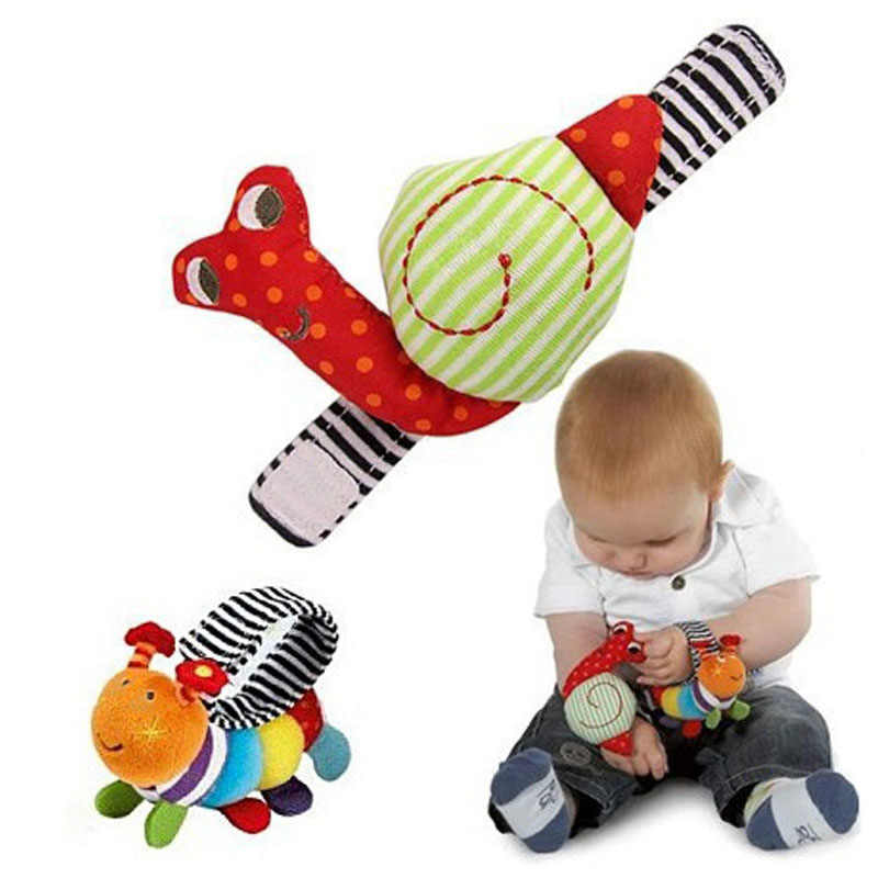 1 Piece 2019 Snails Baby Wrist Watchs Baby Toys 2years Infant Learning & Education Toy Baby Rattle Hand Rattles Finders Toys