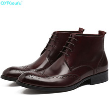 купить New Arrival Men Ankle Boots Shoes Genuine Leather High Quality Fashion Chelsea Boots Autumn Brogues Casual Dress Boots дешево