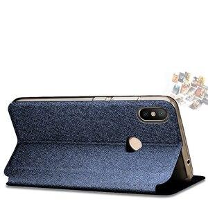 Image 3 - For Xiaomi mi max 3 case soft silicone for xiaomi max 3 case cover flip leather Mofi original for xiaomi mi max3 case TPU funda