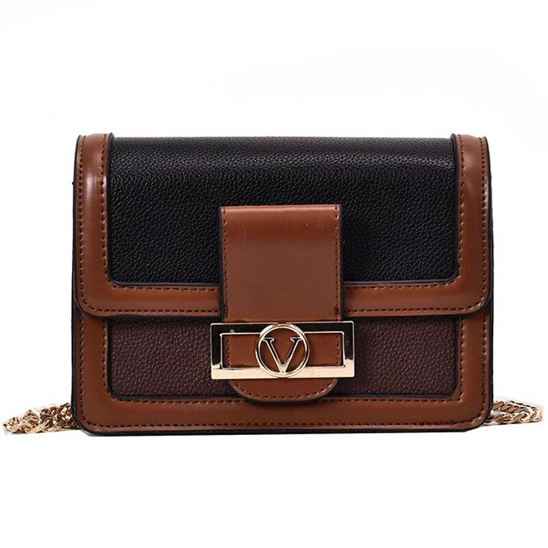 Summer 2019 Fashion Women Bag Leather Handbags PU Shoulder Bag Small Flap Crossbody Bags black brown