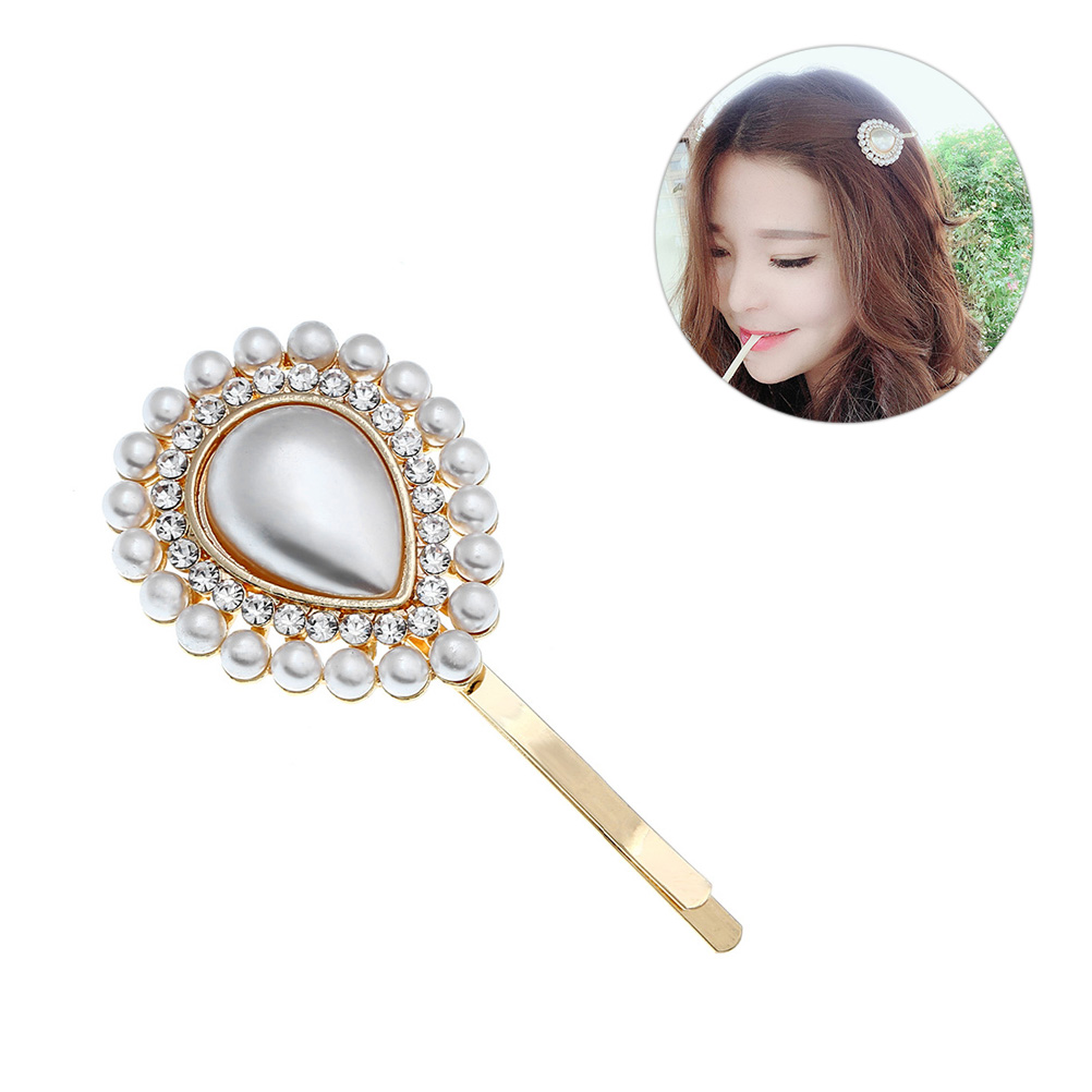 1 Pc Hair Clip Fashion Sweet Alloy Decorative Pearl Bobby Pin Barrettes Hair Jewelry Hairpins For Women Girls