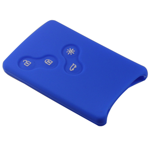 Image 4 - 4 כפתורי סיליקון גומי מפתח כיסוי מקרה מגן עבור רנו קליאו לוגן מגאן 2 3 Koleos סניק כרטיס Keychain רכב סטיילינג