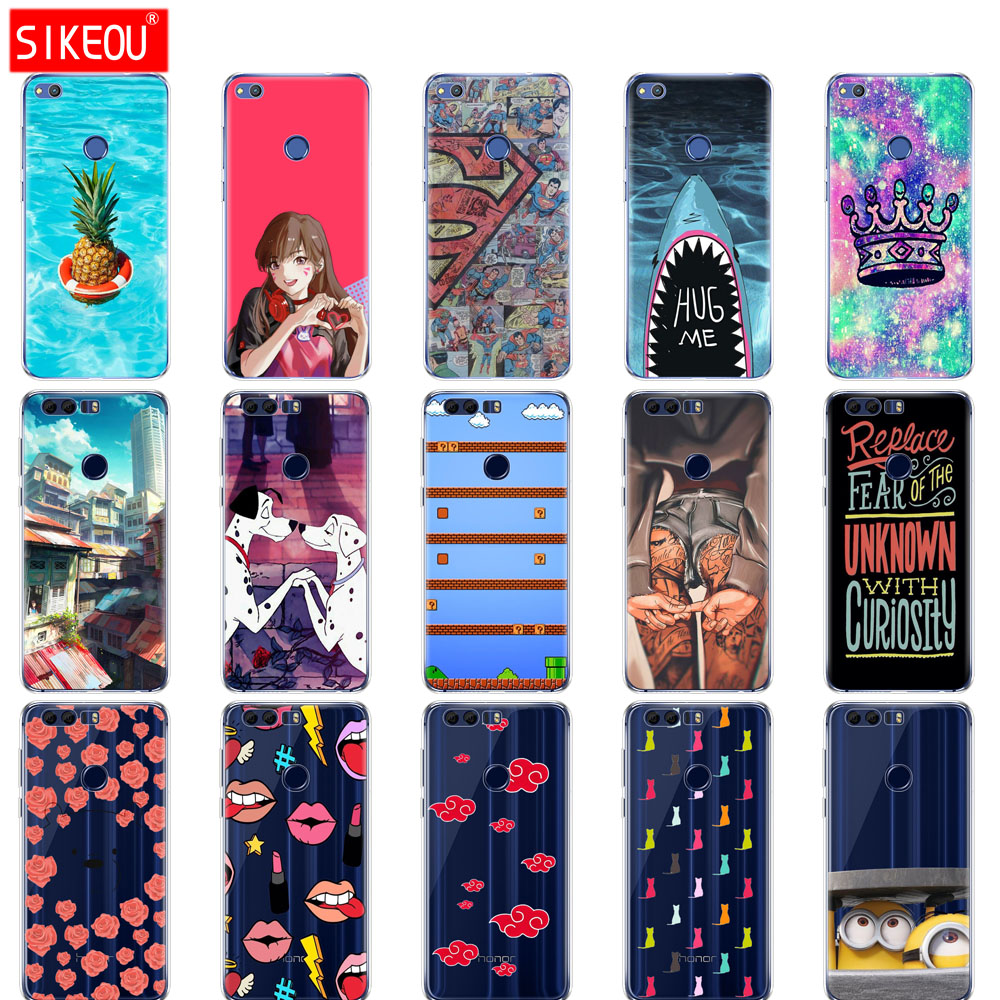 SIKEOU cover phone <font><b>case</b></font> for huawei <font><b>honor</b></font> <font><b>8</b></font> <font><b>honor</b></font> <font><b>8</b></font> <font><b>lite</b></font> soft tpu <font><b>silicone</b></font> For Huawei <font><b>Honor</b></font> <font><b>8</b></font> <font><b>LITE</b></font> FRD-L19 <font><b>PRA</b></font>-<font><b>TL10</b></font> PHONE BAG image
