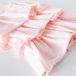 Baby girl pink  Party pants Princess bell bottoms with lace  (7)_
