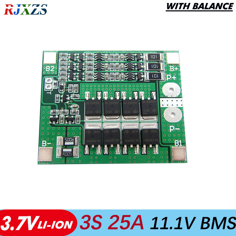 3S 60A 18650 Li-ion Battery Charger Module PCM BMS Protection Charging Board