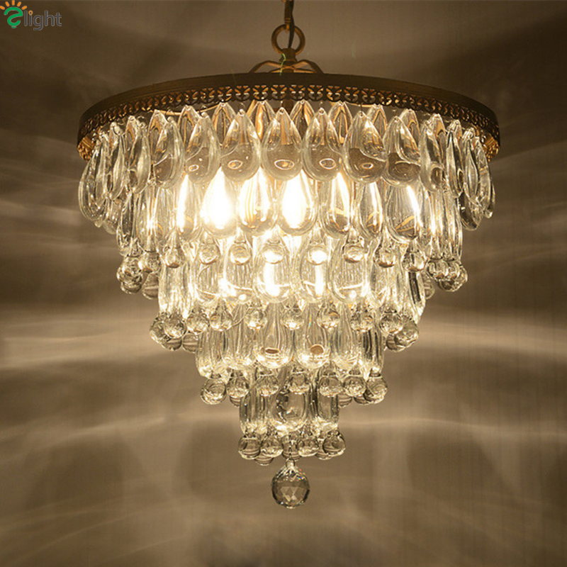 Modern E27 Led Pendant Chandelier Lighting Lustre Crystal Iron Dining Room Led Chandeliers Lamp Bedroom Foyer Led Hanging Lights multiple chandelier sale chandeliers dining room bedroom lamp villa simple lighting d8 056 iron stores zx20