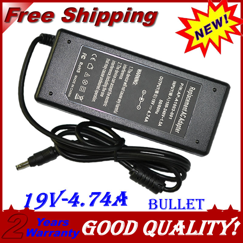 Replacement 19V 4.74A 90W Bullet For HP Laptop AC Charger Po