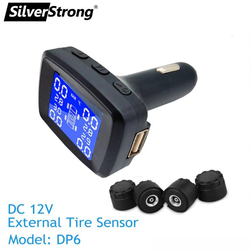 DC12V plug car Tire press monitor tire temperature monitor TPMS android usb port Cigarette lighter tire alarm tire sensor igniter USB charger (2)