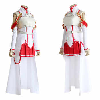 Anime SAO Sword Art Online Yuuki Asuna Cosplay Fighting Suit Costume Halloween Party Dress Wear Outfit