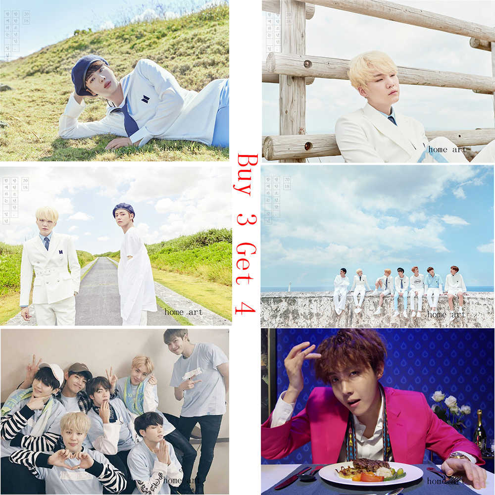 Hope World Posters J-HOPE BTS Wall Stickers Clear Image Wall Stickers Home Decoration Good Quality Prints White Coated Paper