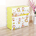 New cartoon DIY kids closet organizer childrens wardrobe