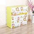 New cartoon DIY kids closet organizer childrens wardrobe