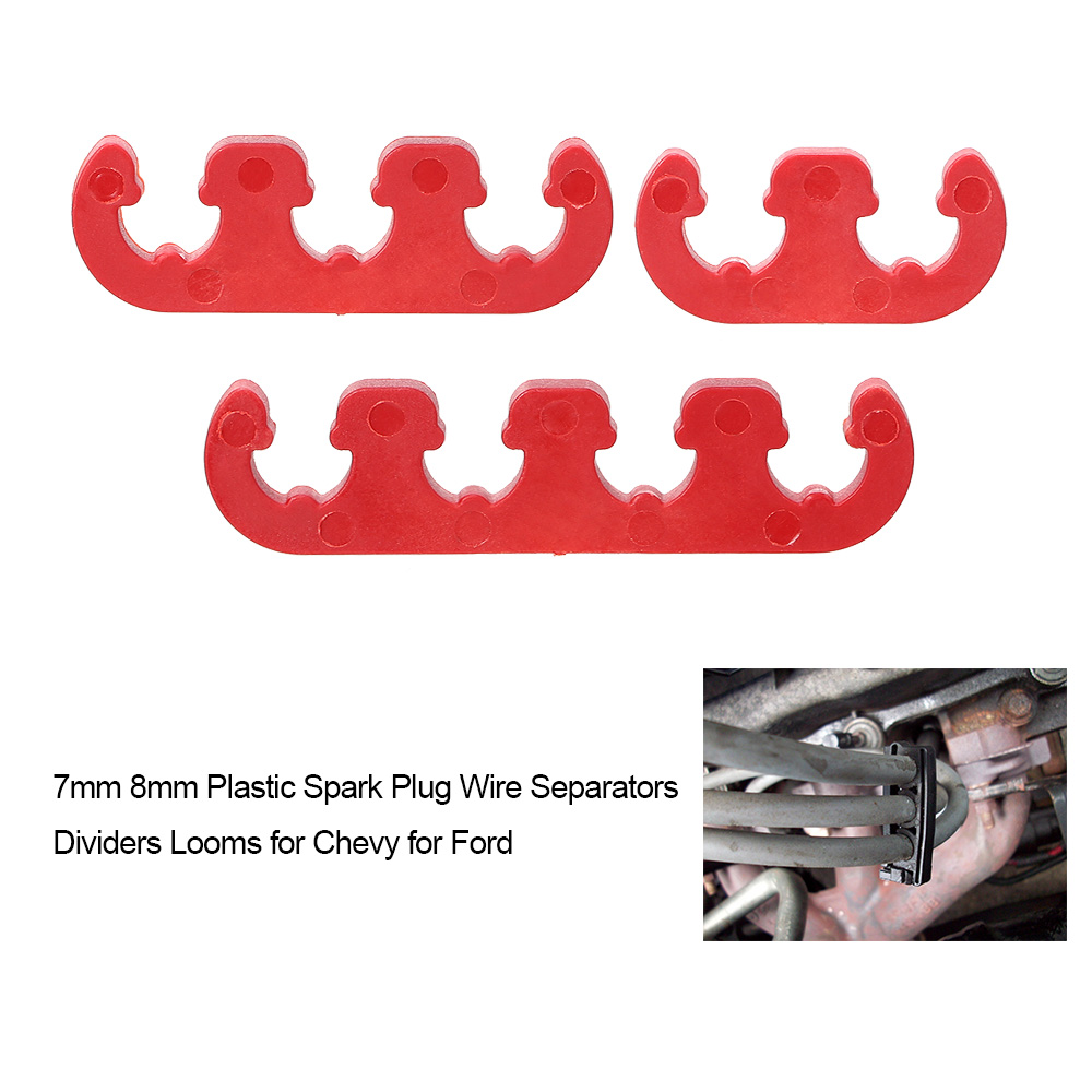 7mm 8mm Plastic Spark Plug Wire Separators Dividers Looms for Chevy ...