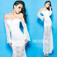 Free Shipping New 2013 Sexy Women Bodycon Stretch Party Pencil Lace Winter Office Girl Long Maxi