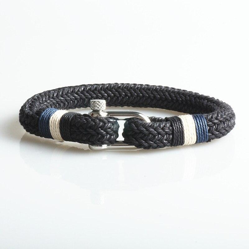 Again Jewel Fashion vintage hand-woven nylon rope women bracelet charm mens bracelet lover jewelry