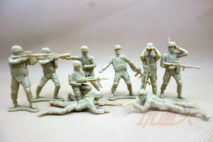 1:35 mini  5cm pvc  figure Toy Soldier Soldier person sci-fi classic battle scenes soldiers bulk Star 50pcs/set фигурка planet of the apes action figure classic gorilla soldier 2 pack 18 см