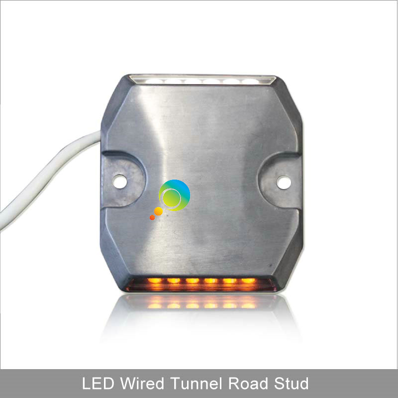 IP65 White Yellow Aluminum Tunnel Wired Road Marker Reflective Led Road Stud