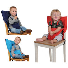 Portable Baby Seat Kids Infant Travel Foldable Dining High Lunch Chair Cover Seat Safety Belt Feeding High Chair(China)