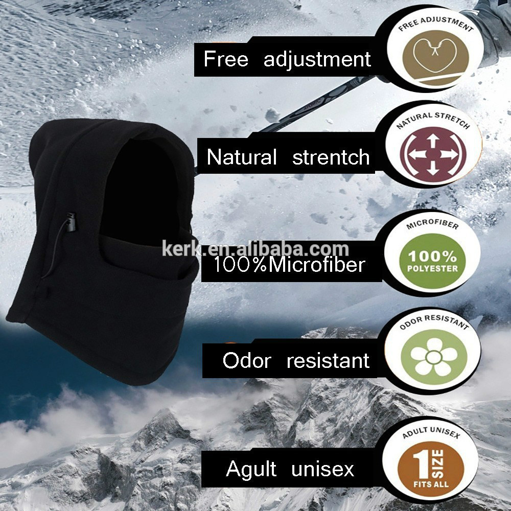 6in1 Fleece swat bike wind stopper,winter caps and hats face mask balaclava