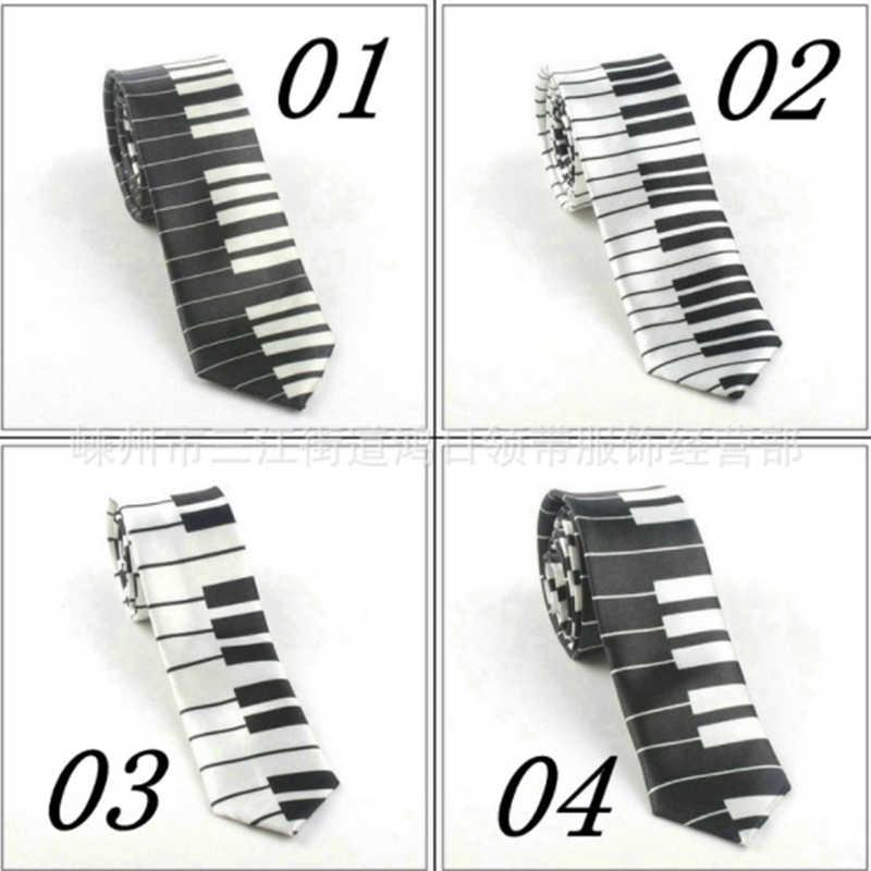 Mới Nam Quan Hệ Thiết Kế Sáng Tạo Âm Nhạc Độc Đáo Phối Quà Tặng Cho Nam Với Bàn Phím Piano Rộng Âm Nhạc Cổ Điển Mỏng Thắt Bigsweety