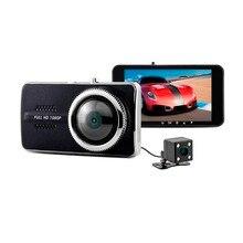 Buy online 4″ IPS Screen Camara Automovil NTK 96658 FHD 1080P Dash Cam WDR Motion Dection Dual Lens Auto Car Camera Reverse Park Blackbox