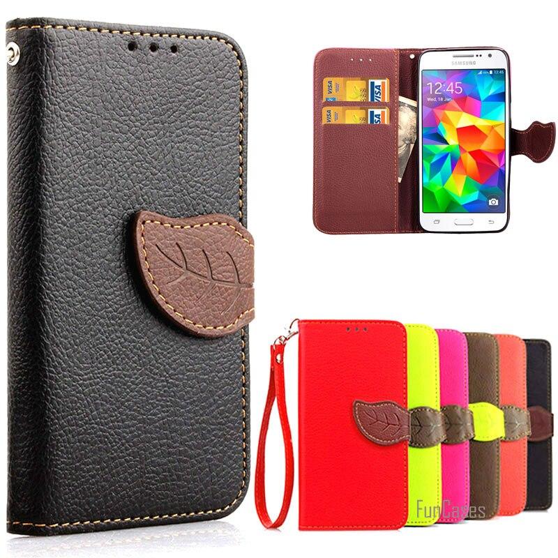 Luxe Rétro Étui En Cuir Pour Coque Samsung Galaxy Grand-Premier G530 G530H G530W G531 SM-G530H Portefeuille Flip Cas Avec Carte titulaire