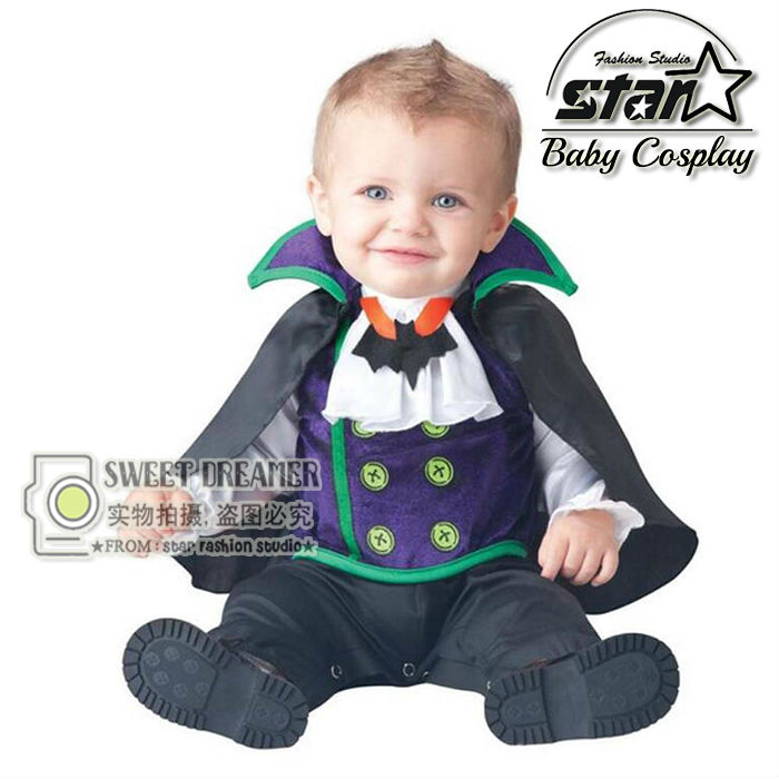 Newborn Baby Halloween Vampire Cosplay Jumsuit Toddler Boys Girls Funny Cute Clothes Set Kids Photography Props Birthday Gift