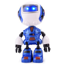 Manual Deformation Model of Q Version Mini Intelligent Induction Early Education Acousto-optic Sprouting Alloy Robot Kid's Toys(China)