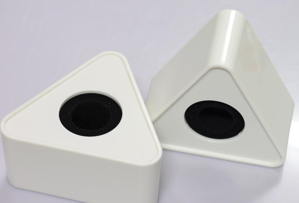 <font><b>2x</b></font> New White Microphone Flag Triangle <font><b>Cube</b></font> (pack of Two) image