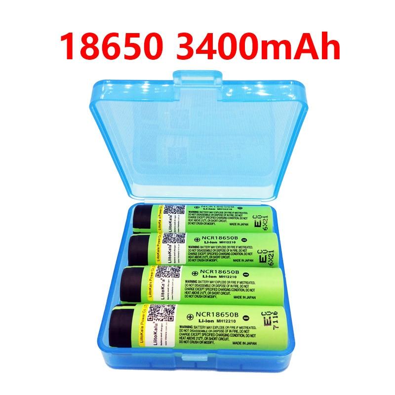 2017 liitokala original NCR18650B 3 7V 3400 mah 18650 3400mah for Panasonic rechargeable lithium battery ree